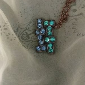 Unique blue and turquoise necklace